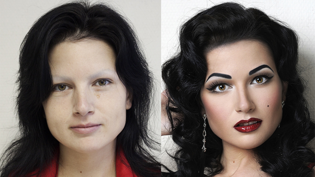 amazing makeup skills, Arts, Before And After Photos, makeup art, makeup before and after, makeup transformation pictures, Photography, stunning makeup transformations, Vadim Andreev-1